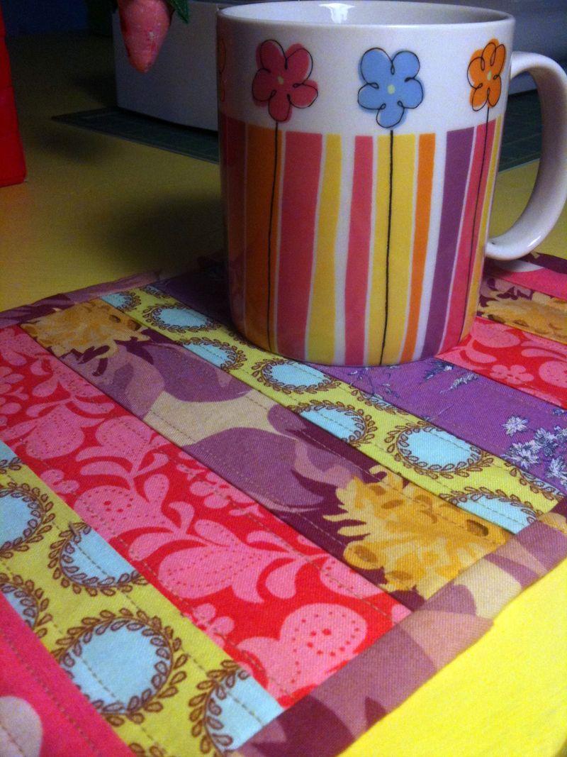 Sandy's mug rug and mug done