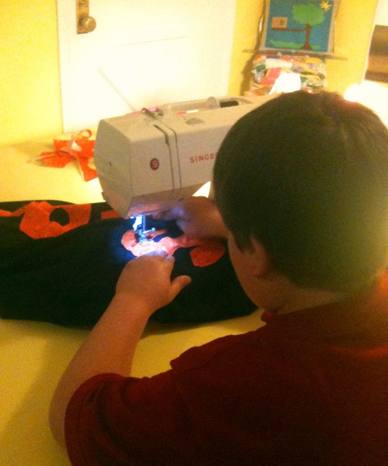 Foxes pillow sewing the S
