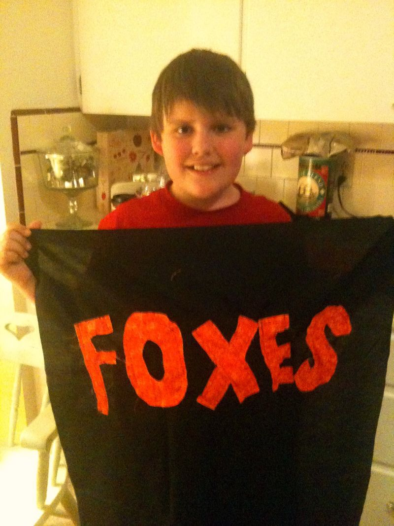 Foxes pillow jack showing letters