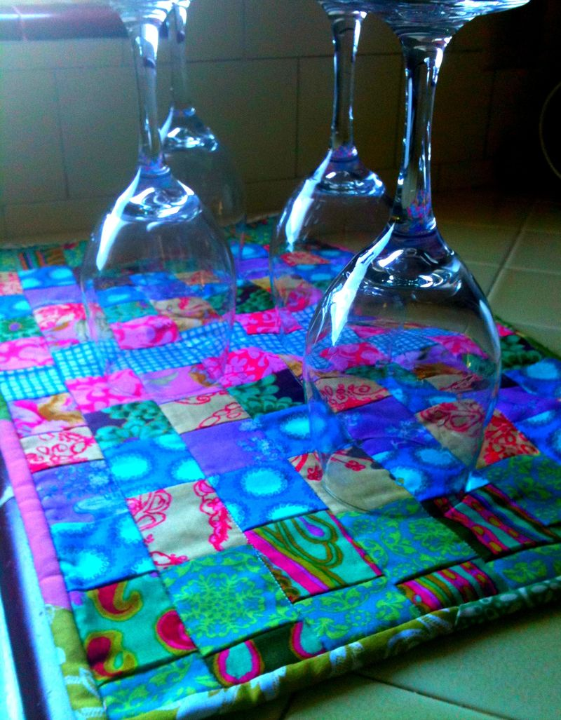 Drying towell wine glasses
