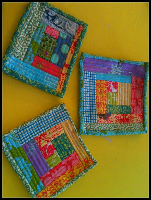 Log cabin 3 potholders