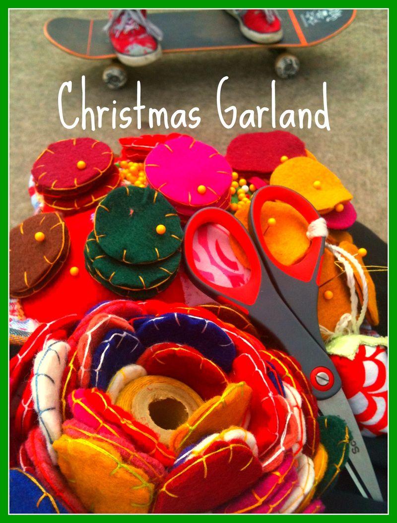 Christmas garland 8-19
